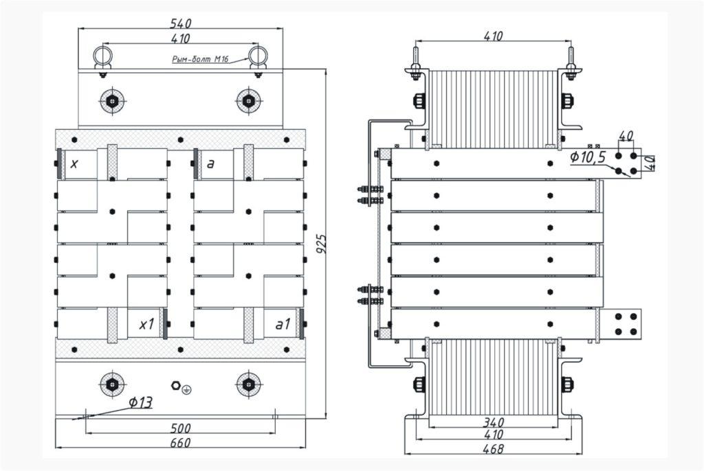Однофазный печной трансформатор ОСЭ 250-380/160