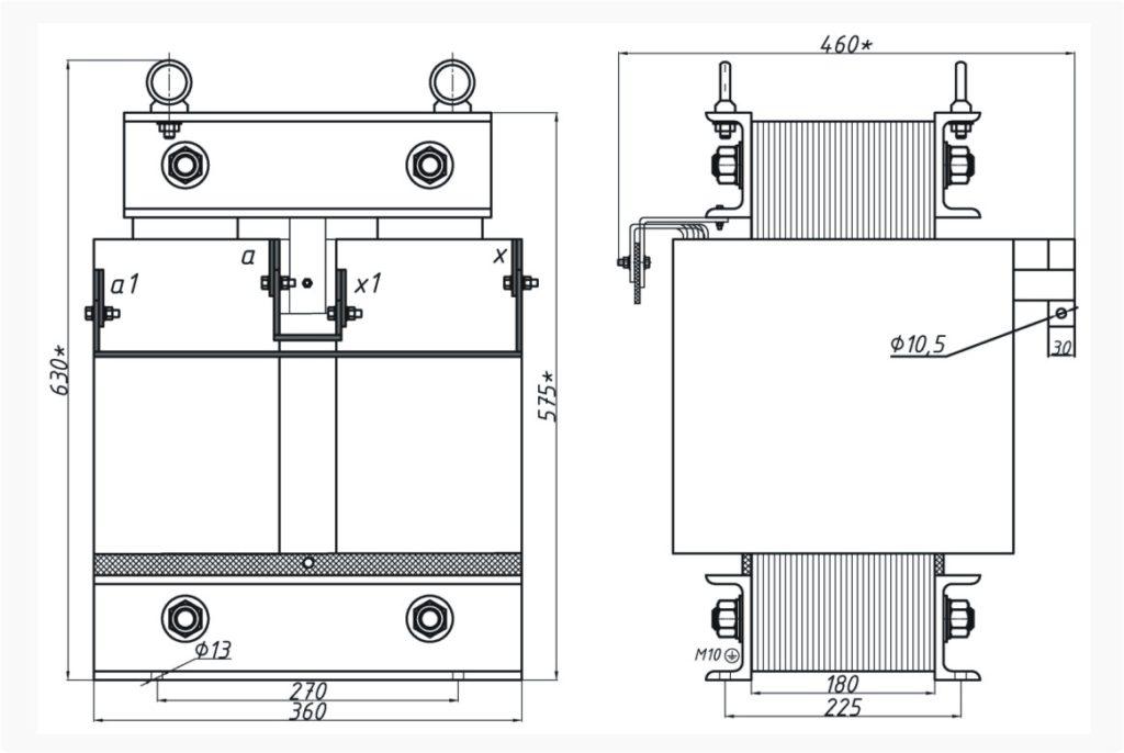 Однофазный печной трансформатор ОСЭ 40-380/100