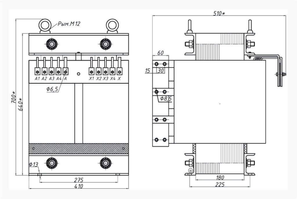 Однофазный печной трансформатор ОСЭ 40-380/34