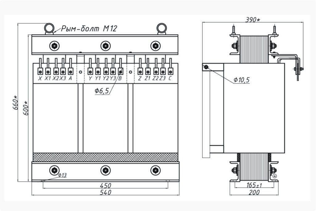 Трехфазный печной трансформатор ТСЭ 25-380/38