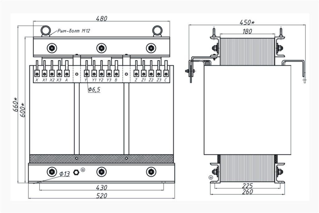 Трехфазный печной трансформатор ТСЭ 40-380/155