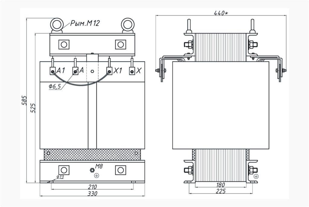 Трансформатор ОСЭ 25-380/155