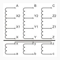 Трехфазный печной трансформатор ТСЭ 110-380/196-184-174