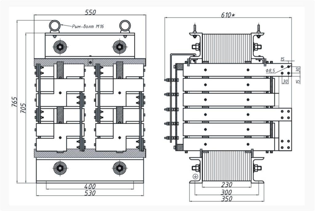 Однофазный печной трансформатор ОСЭ 100-380/43