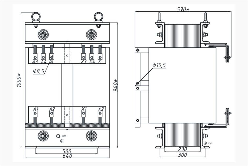 Однофазный печной трансформатор ОСЭ 160-380/160