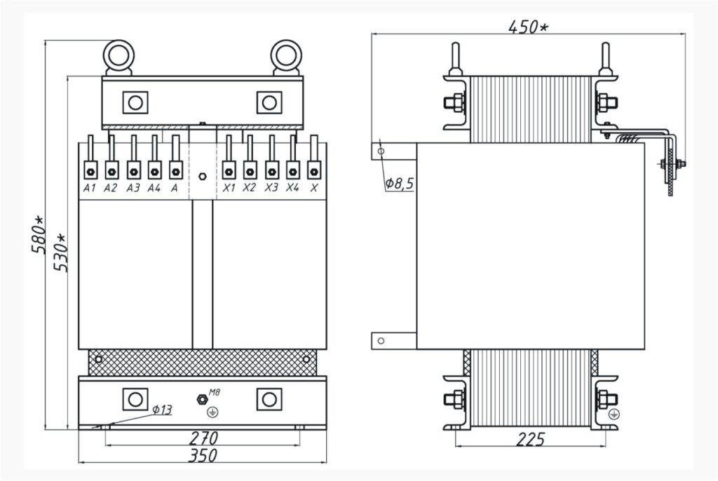 Однофазный печной трансформатор ОСЭ 25-380/60