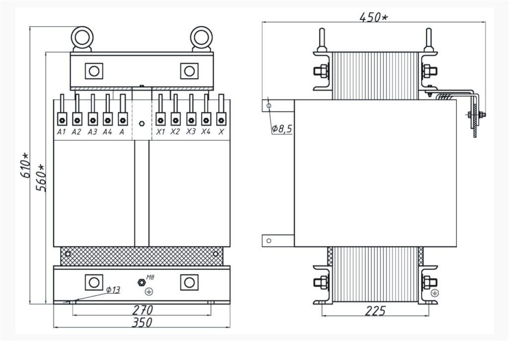 Однофазный печной трансформатор ОСЭ 25-380/73