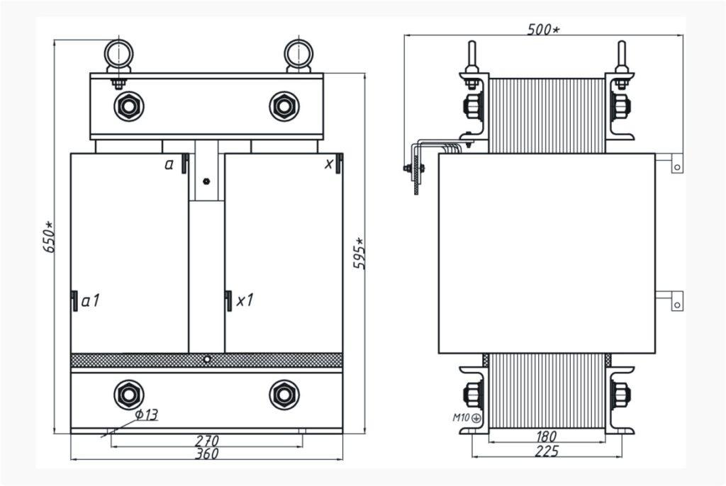 Однофазный печной трансформатор ОСЭ 40-380/310