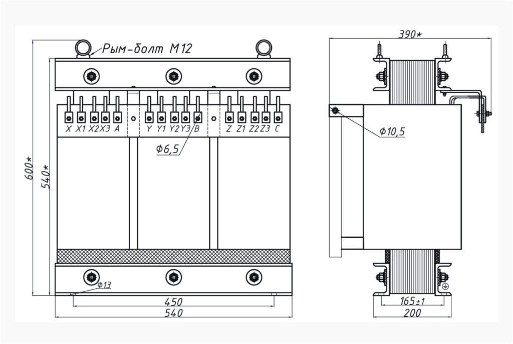 Трехфазный печной трансформатор ТСЭ 25-380/19