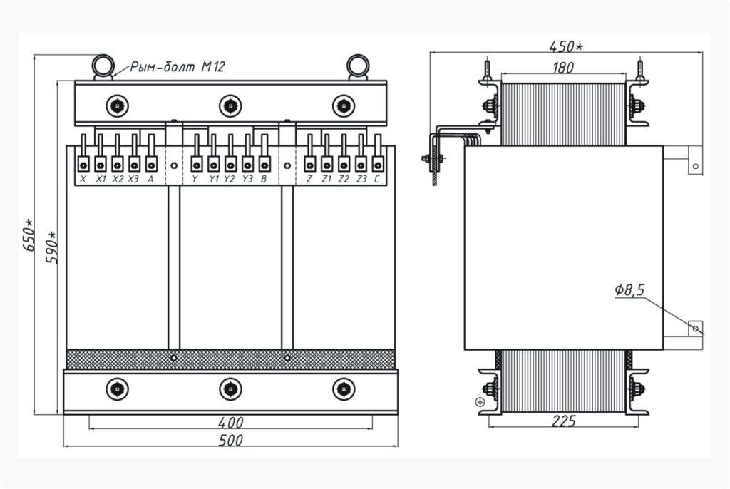Трехфазный печной трансформатор ТСЭ 40-380/38