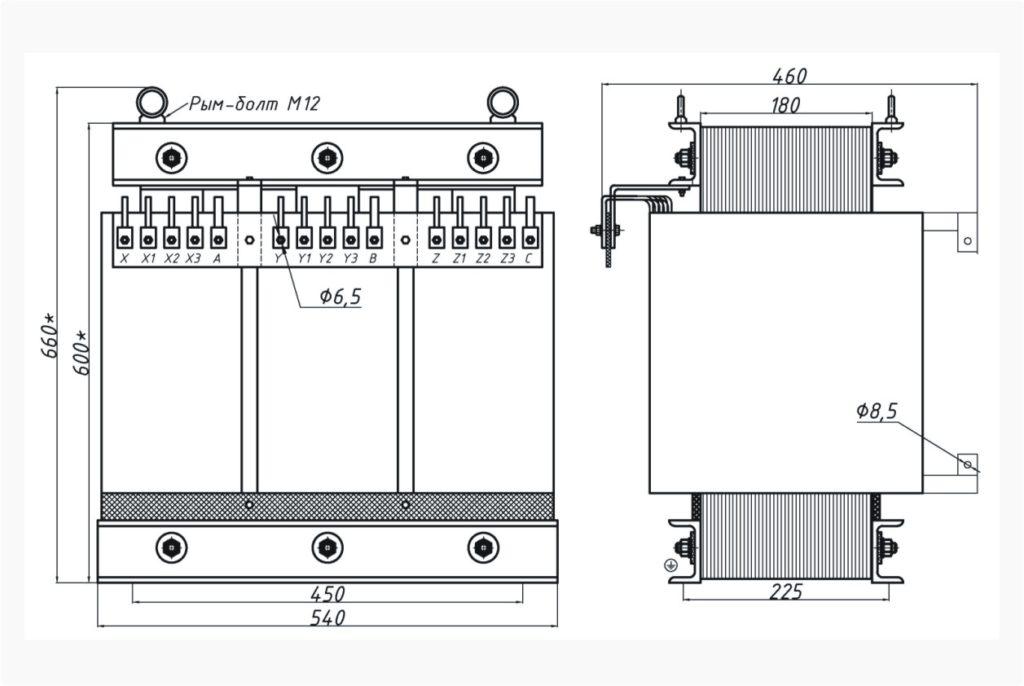 Трехфазный печной трансформатор ТСЭ 40-380/52