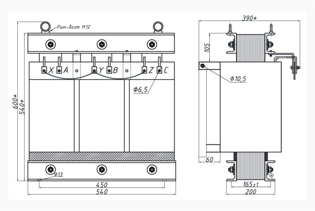 Трехфазный печной трансформатор ТСЭ 25-380/33