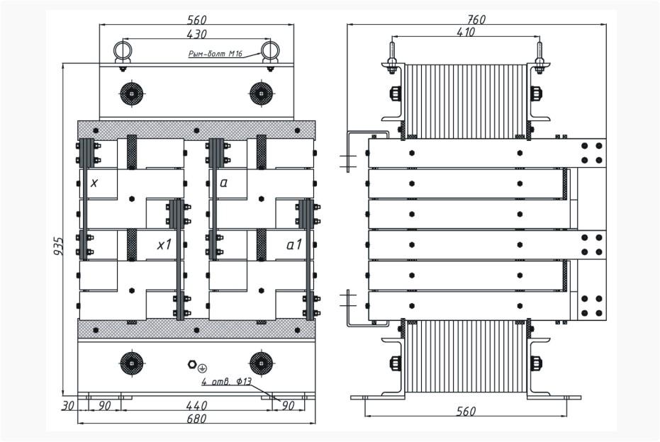 Однофазный печной трансформатор ОСЭ-250-380/40